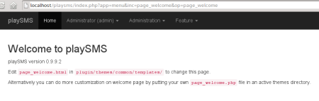 Welcome Page 0.9.9.2